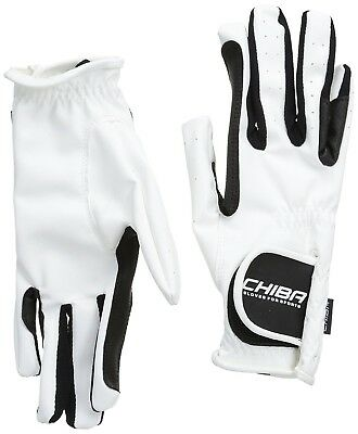 (Small, White) - Chiba Gloves Wet Grip Horse Riding Glove. Free Shipping