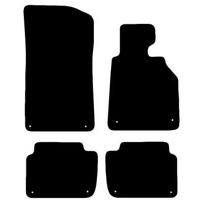 Tailored Black Car Floor Mats Carpets 4pc with Clips Set for BMW 3 Series E46