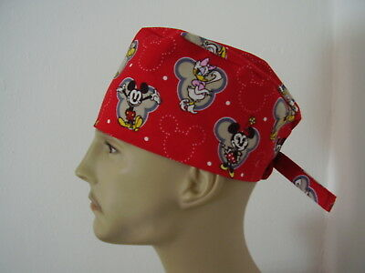 Surgical Scrub Cap/Hat - Mickey Mouse & Friends - Handmade- One size -Men Women