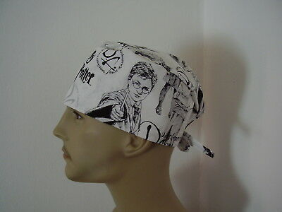 Surgical Scrub Cap/Hat - Harry Potter -Handmade- One size -Men Women