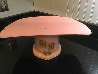 Vintage Counselor Brearley Company Metal Baby Scale 1950s Era Nursery Decor Pink