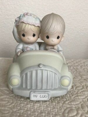 Precious Moments - Wishing You Roads Of Happiness - Just Married Wedding Car