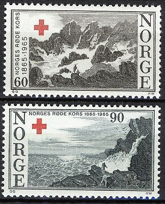 Stamps Norway 1965 Red Cross 90o Coastal View Vfu Sc 474 Norway