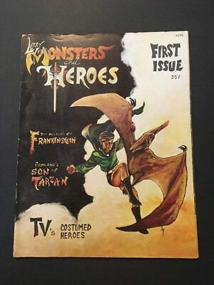 Monsters and Heroes #1 (1967, H&M Publications) UNDERGROUND CLASSIC MAGAZINE
