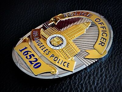Historische US Polizeimarke: L.A.P.D. ✪ CHIEF of POLICE ✪ Badge ✪