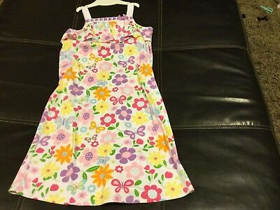 Girls Gymboree gown size 10-12 sleeveless w/butterflies and flowers