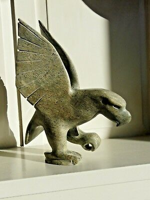 Inuit Sculpture - Bird on One Foot by Kayee Peter