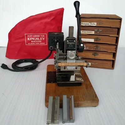 Kingsley Hot Foil Stamping Machine Model M-101 With Extras