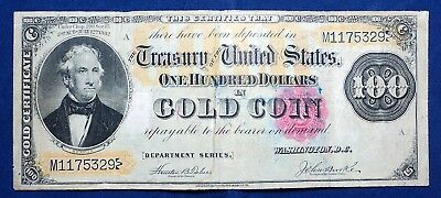 1882 $100 Gold Coin Certificate