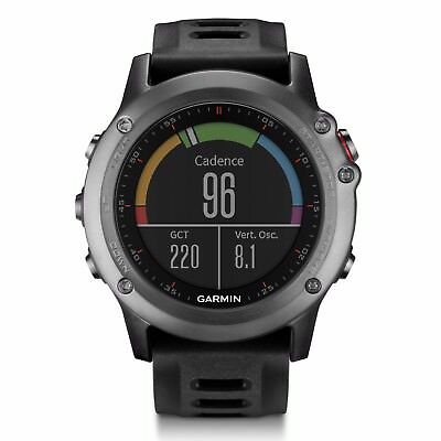 Garmin fenix 3 Gray Multisport Training GPS Watch w/ Black Band 010-01338-00