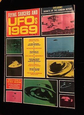 Vintage 60s Flying Saucers & UFOs 1969 # 3 Magazine Condon Report