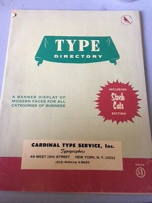 Vintage Type Cardinal Specimens Book Lettering Typography Typesetting