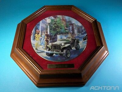 Willys jeep MA Collector Plate First Edition Home on Leave