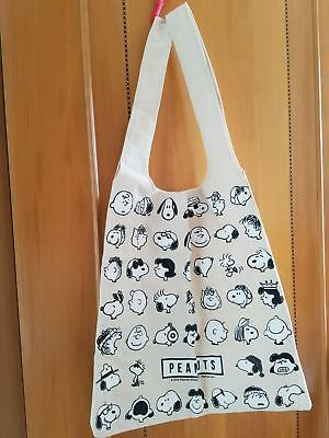 Peanuts Snoopy & Friends - Canvas Shoulder shopping Tote Bag (NEW)