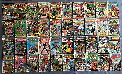 Marvel bronze age comics lot - Marvel Super Heroes, Team Up, Two in One, Tales