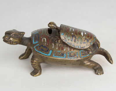 China 20. Jh. Schildkröten Censer A Chinese Bronze Terrapin Incense Burner Qing