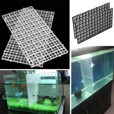 2Pcs Plastic Aquarium Fish Tank Divider Tray Supplies Filter Isolate Board Tools