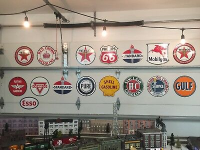 Gasoline Pump Porcelain Steel Signs