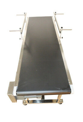 """110V 15.7"""" Widening Electric Double Guardrails Belt Conveyor Packaging Supply"""