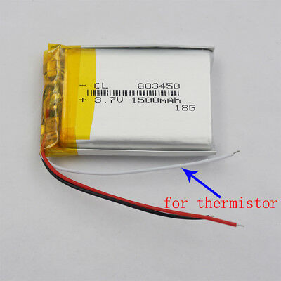 3.7V 1500mAh 3 wires thermistor Polymer Li Battery 083450 For GPS Tablet PC PDA
