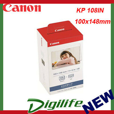 Canon KP-108IN Post Card  108 Sheetsink & Paper Kit For Selphy Photo Printer