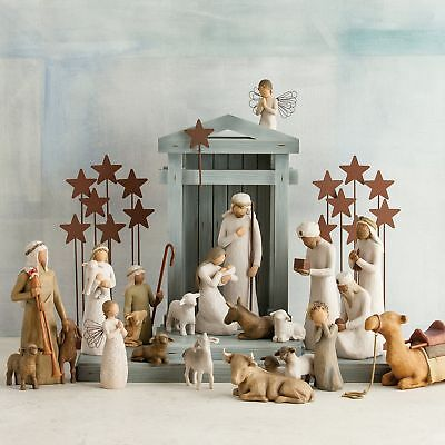 Figurative Sculptures Wooden Nativity Collection Willow Tree Creche Collectible