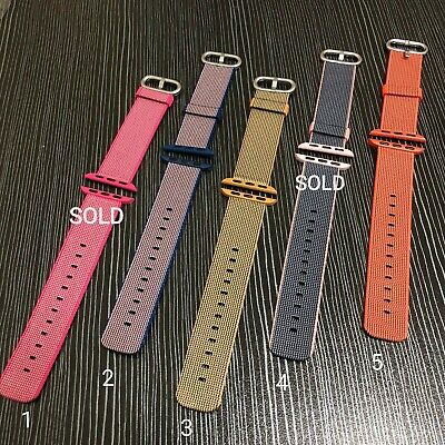 Genuine Original Apple Watch Band Woven Nylon 38mm - Multi color