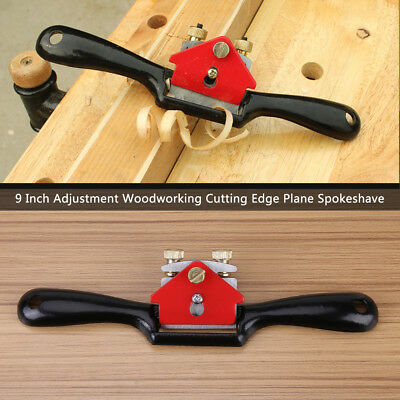 "9"" Adjustment Woodworking Cutting Edge Plane Spokeshave Hand Trimming Tool oe"