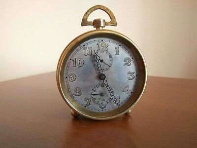 Antique Zenith Brass Alarm Clock