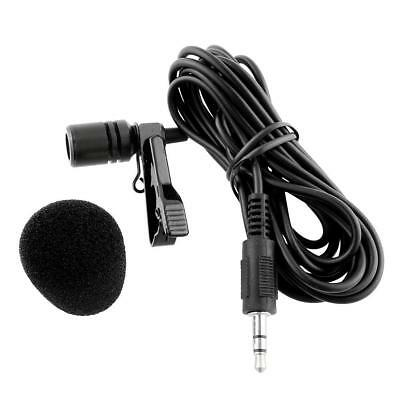 External Clip-on Lapel Tie Mini Lavalier Microphone 3.5mm Jack For iPhone PC