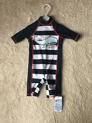 Boys Mothercare Swimsuit Sunsafe Age 3-6 Months BNWT