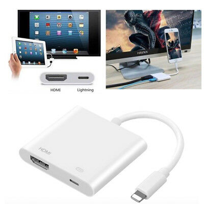 iPhone 6 7 8 X iPad HDMI Adapter Lightning Digital AV Adapter to HDMI Cable