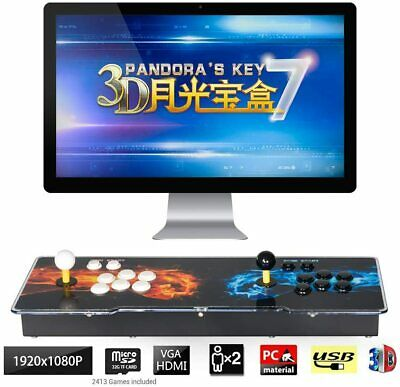 Pandora box 3D Machine Double stick Videogame Console 2200 games Add 3D Games