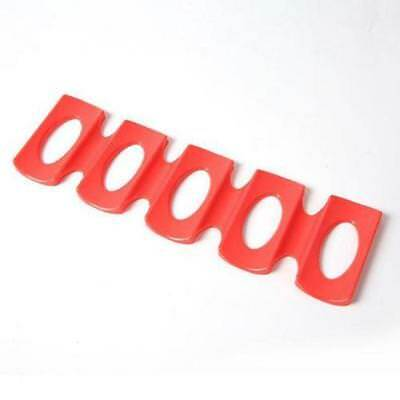 1pc Red Silicone Fridge Can Beer Wine Bottle Rack Holder Mat Stacking Tool