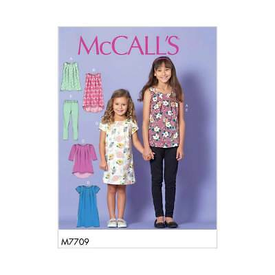 Childrens Tops, Dresses and Leggings   McCalls Sewing Pattern M7709