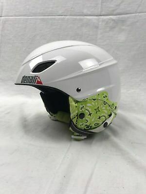Denali Kids Snow Helmet Size Grom Adjustable New In Box White With Graphics