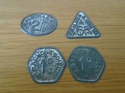 J Salmon & Son Ltd 4 Tokens Nice examples see pictures