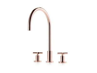 Three Hole Basin Mixer Solid Brass Chrome Low Pressure Swivel Spout M503 /& Waste