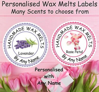 Personalised Wax Melts Candle Labels Many scents too choose Candle Making, Gifts