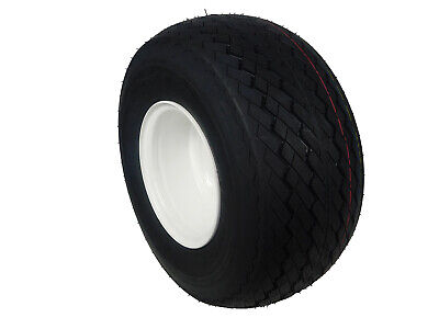 MASSFX Single Wheel and Tire Combo 18x8.5-8 Golf Cart Tire with White 4/4 Rim