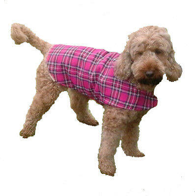 Dog Coat Tartan Lightweight Washable Paisley Lined Small Doggie Size