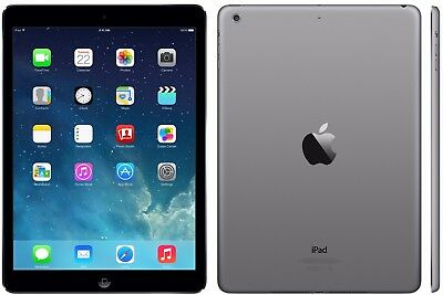 Apple iPad Air 64GB, Wi-Fi 4G Cellular 9.7in Space Grey Retina A Grade Warranty