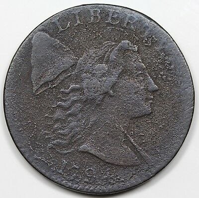 1794 Liberty Cap Large Cent, Head of '94, VF detail
