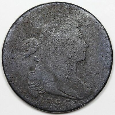 1796 Draped Bust Large Cent, Reverse of '95, G-VG detail