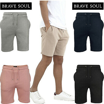 Brave Soul Mens Jogging Shorts Sweat Baggy Joggers Running Jersey Fleece Bottoms