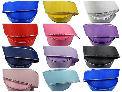 Grosgrain [crossgrain] ribbon > metallic edge > lots of colours > very pretty!