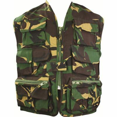 Highlander Unlined Kids Vest Camo Action Paintball Army Uniform Fancy Dress