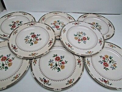 Good Condition Lot of 8 Royal Doulton Kingswood Dinner Plate 10 5/8""