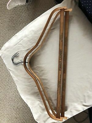 VINTAGE WOODEN COAT CLOTHES HANGERs ADVERTISING Forrest Laundy, Milwaukee