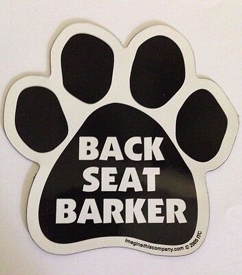 Back Seat Barker Magnet For Car Truck Fridge USA Made 100% To Rescue